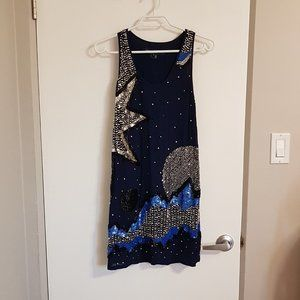 French Connection Sequined and Beaded Dress